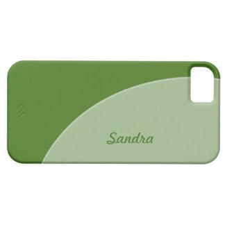 緑の灰色のモダンな円 iPhone SE/5/5s ケース
