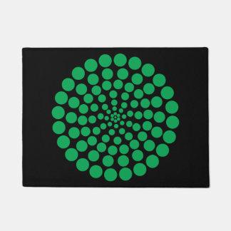 緑の点のプリント。 カスタマイズ可能な背景色 ドアマット