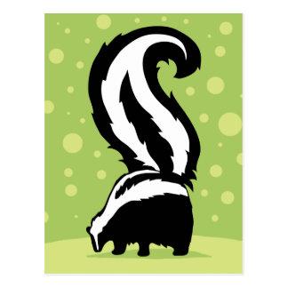 緑の点を持つはっきりしたなスカンクのイラストレーション ポストカード