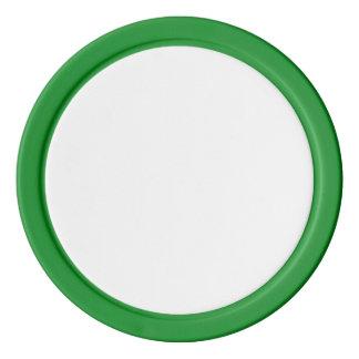 緑の無地のな端が付いているポーカー用のチップ ポーカーチップ