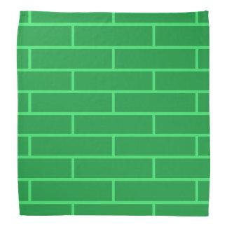 緑の煉瓦構造パターン バンダナ