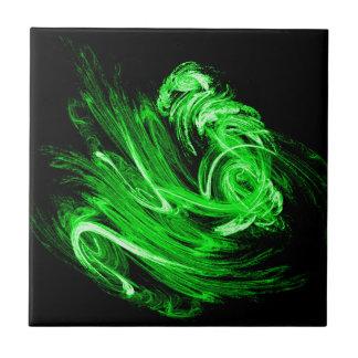 緑の煙のフラクタル タイル