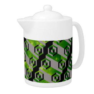 緑の熱い日光の灰白質の冷えた宇宙の茶