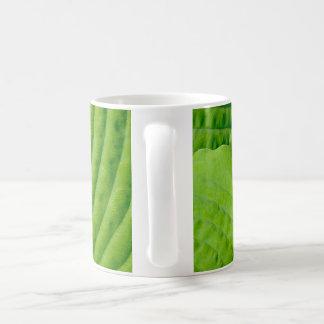 緑の熱帯葉 コーヒーマグカップ
