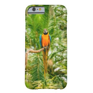 緑の熱帯雨林のコンゴウインコのオウム BARELY THERE iPhone 6 ケース