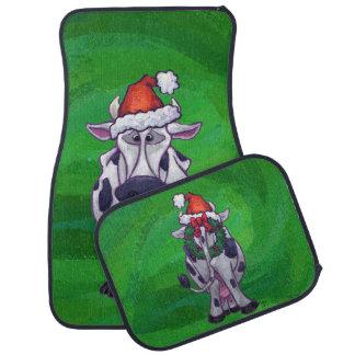 緑の牛クリスマス カーマット