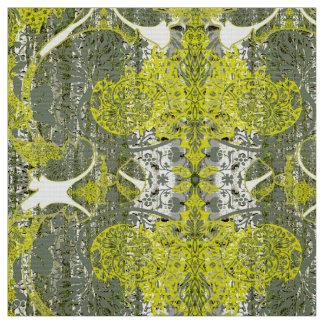 緑の生地パターンの自然 ファブリック