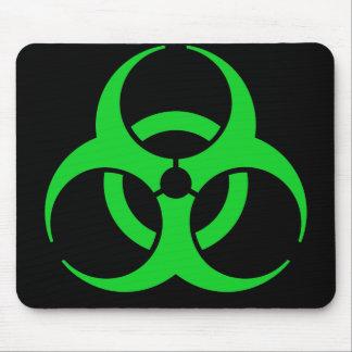 緑の生物学的災害[有害物質]の記号 マウスパッド