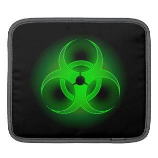 緑の生物学的災害[有害物質]のiPadの袖 iPadスリーブ