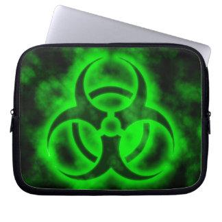 緑の生物学的災害[有害物質] ラップトップスリーブ