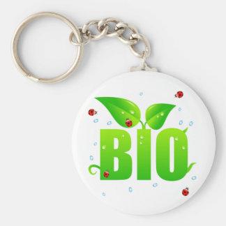 緑の生物的オーガニックな自然 キーホルダー