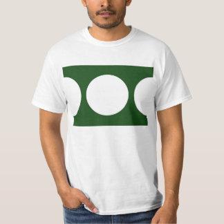 緑の白い円 Tシャツ