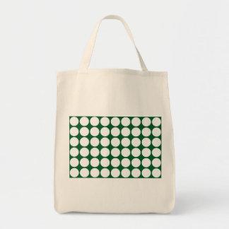緑の白い水玉模様 トートバッグ