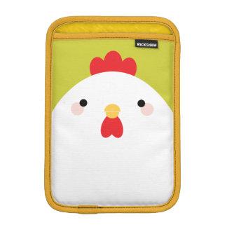 緑の白い鶏 iPad MINIスリーブ