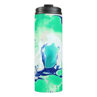 緑の白くおよび青の大理石 タンブラー