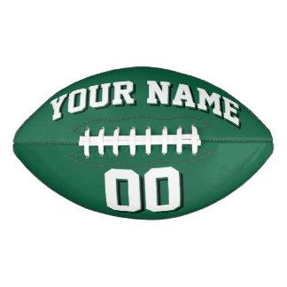 緑の白くおよび黒くカスタムなフットボール アメリカンフットボール