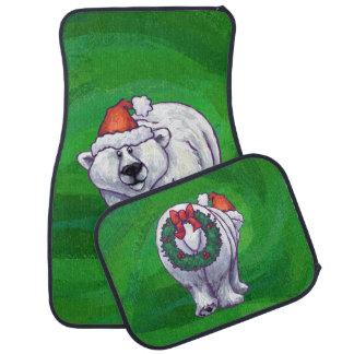緑の白くまのクリスマス カーマット