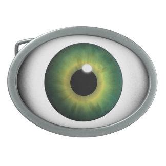 緑の眼球の緑の瞳のアイリスカッコいいのベルトの留め金 卵形バックル