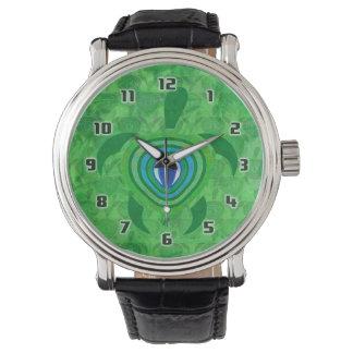 緑の瞳のカメ 腕時計