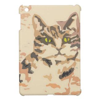 緑の瞳のベージュ秋色の猫 iPad MINI カバー