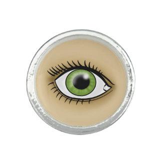 緑の瞳アイコン リング