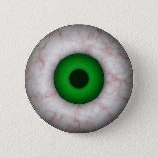 緑の瞳ボタン 5.7CM 丸型バッジ
