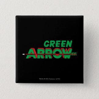 緑の矢のロゴ2 5.1CM 正方形バッジ