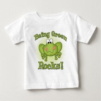 緑の石のTシャツがあります ベビーTシャツ