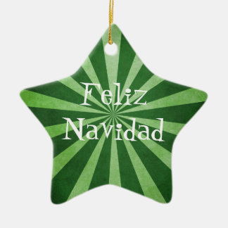 緑の破烈のFeliz Navidadのクリスマスのオーナメント セラミックオーナメント