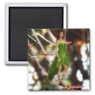 緑の磁石の森林妖精 マグネット