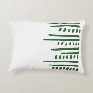 緑の種族のストライプな枕箱 アクセントクッション