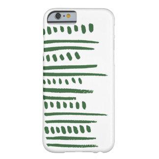 緑の種族のストライプな電話箱 BARELY THERE iPhone 6 ケース