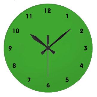 緑の空白のでカスタムなテンプレート ラージ壁時計