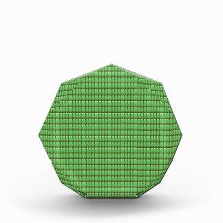 緑の空白のな水晶テンプレート 表彰盾