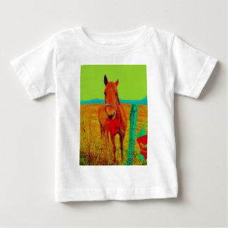 緑の空、赤い弓馬: 名前を加えて下さい ベビーTシャツ