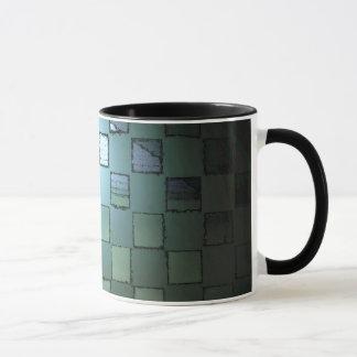 緑の立方体のマグ マグカップ