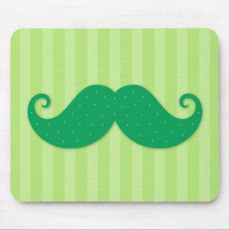 緑の粋なヒップスターの髭 マウスパッド