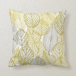 緑の粋な自然の枕はパターンを去ります クッション