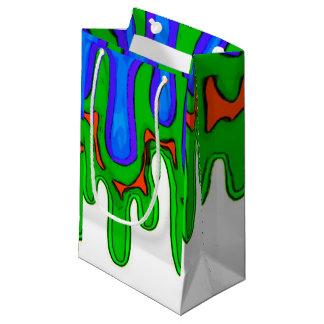 緑の粘着物のバッグ スモールペーパーバッグ