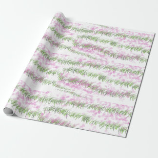 緑の素晴らしいデザインのマットの紙 ラッピングペーパー