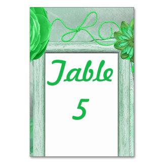 緑の素朴な結婚式 カード