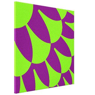 緑の紫色のスケールパターンキャンバスプリント キャンバスプリント