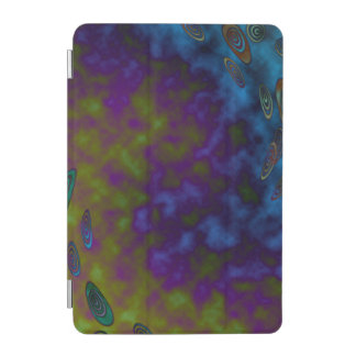 緑の紫色の宇宙抽象芸術 iPad MINIカバー