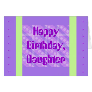 緑の紫色の格子縞 カード
