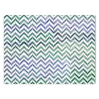 緑の紫色の水彩画シェブロン 薄葉紙