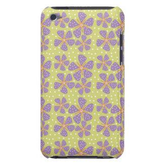 緑の紫色の花 Case-Mate iPod TOUCH ケース