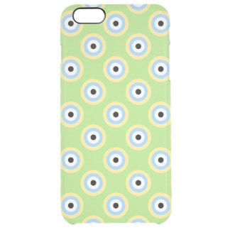 緑の組合せの円 クリア iPhone 6 PLUSケース