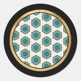 緑の組合せ及びマッチの収集品- 4 ラウンドシール