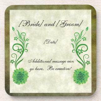 緑の結婚式の習慣のコースター ビバレッジコースター
