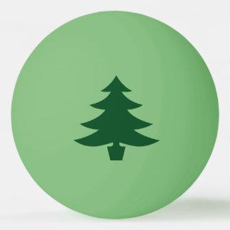 緑の緑のクリスマスツリーの形 ピンポンボール